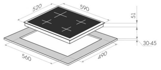 Газовая варочная панель MAUNFELD EGHE.64.6CB/G