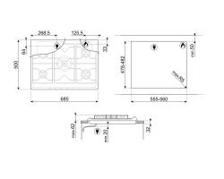 Газовая варочная панель SMEG SRV876POGH_2